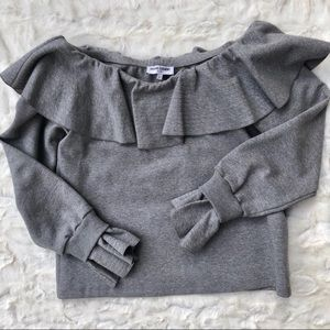 Opening Ceremony Off the shoulder Ruffle Grey Too